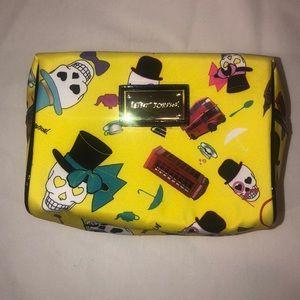 Betsey Johnson Skulls Phone Booth Cosmetic Bag